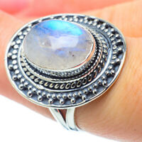 Rainbow Moonstone 925 Sterling Silver Ring Size 7 Ana Co Jewelry R30951F