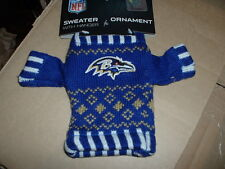 New Knit Official Licensed NFL Sweater Baltimore Ravens Ornament