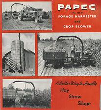 Papec No. 131 D Forage Harvester & Crop Blower 1948 Farm Equipment Brochure