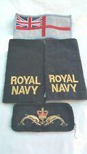 Lot insignes tissus de la Royal Navy