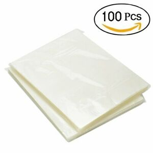 100 Pack Thermal Laminating Pouches 3 Mil Heat Seal A4 Letter Size 9x11.5 Sheets