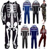 New Unisex Camouflage Aztec one piece Jumpsuit skeleton All in one Small to XXXL