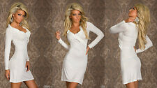 Party Club Formal Wear Modern Stylish Mini Dress UK size 8-10 White