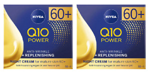 2 x Nivea Q10 60+ Anti-Wrinkle + Replenishing Night Cream (2 x 50ml)