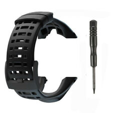 Black Soft Rubber Watch Strap Band For Suunto Ambit 1 2 2R 2S Ambit 3 Peak +Tool
