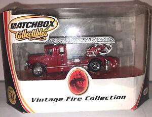 MATCHBOX-COLLECTIBLES-VINTAGE FIRE COLLECTION-1932 MERCEDES BENZ LADDER TRUCK