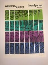 "Shepard Fairey ""Twenty-One"" OBEY Signed Print Poster Art Graffiti Street Art"