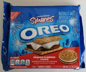 NEW Nabisco Oreo S'mores Flavor Sandwich Graham Flavored Cookies FREE SHIPPING