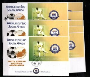 // SOUTH AFRICA 2004 - 8 FDC - SOCCER
