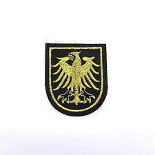 Embroidered Iron On Patch Eagle Golden Logo Badge Sky Wing Decor Craft DIY