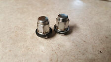 93-14 honda accord civic wheel lug (qty 2) nut oem chrome  oem 90381-sv1-981