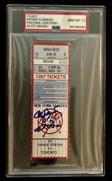 Roger Clemens Signed Autographed Full Ticket 200 Win PSA 10 Mint Yankees