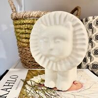 Vintage Mid Century Modern ceramic lion decor figurine Harris Potteries Chicago