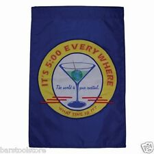 New listing Happy Hour Retro House Banner Cocktails Its Five A O'Clock Somewhere