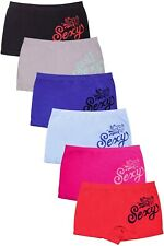 6 Pieces Womens Boy Shorts Underwear Seamless Nylon Panties Lot Sexy Paisley