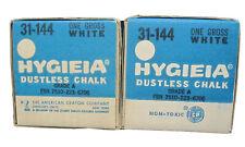 HYGIEIA  Dustless White CHALK 2 gross (288 pcs) VINTAGE DIXON 31-144