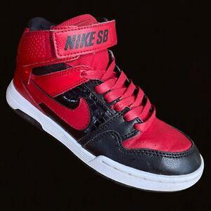 NIKE SB Mogan Mid 2 Jr Skateboard Shoes Chicago Jordan Red Black 645025-662