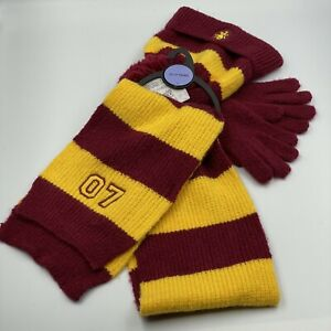 HARRY POTTER - GRYFFINDOR - SCARF, HAT & GLOVES - AGES 10-13  OFFICIAL - M&S NEW