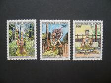 Kongo MiNr: 1434 - 1436 ** postfrisch Trachten / Stämme