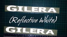 REFLECTIVE Gilera silver/white Decals/Stickers-VX VXR FX FXR SP DD ST Runner DNA