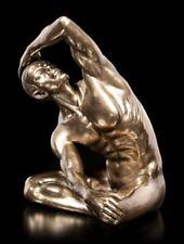 masculine statue Nu - avec main paillettes sur Fil de fer tête - Grand -