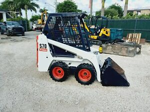 2015 BOBCAT S70 WHEEL LOADER, OROPS, 919 HOURS - HAND AND FOOT CONTROL