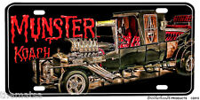 THE MUNSTER KOACH LICENSE PLATE MADE IN USA