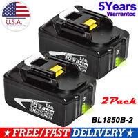 2New For Makita BL1850B 18V 5.0Ah Lithium Ion Battery BL1850B-2 BL1850-2 BL1860B