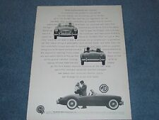 "1960 MGA 1600 Vintage Ad ""What is a True Sports Car?"""