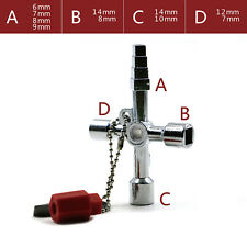 New 5 in 1 Universal Cross Control Cabinet Key Triangle Square Wrench for Train
