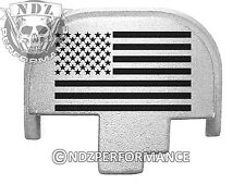 For Smith Wesson S&W M&P 9 40 45 Rear Slide Back Plate Sil US Flag