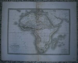 Lapie's map AFRICA, Atlas Universel, Paris, 1829 / 1831