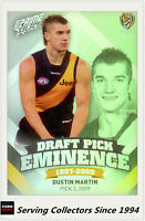 2013 Select AFL Prime Draft Pick Eminence Card DPE79 Dustin Martin (Richmond)