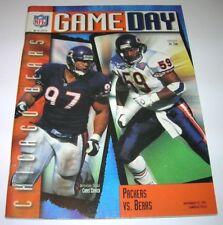 1995 GREEN BAY PACKERS vs CHICAGO BEARS NFL PROGRAM Brett Favre EX condition