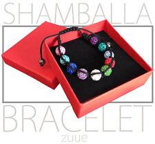 Rrp £ 34.99 LUXE shamballa bracelet multicolore parfait cadeau saint valentin