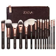 15PCS ZOEVA Makeup Cosmetic Complete Eye Set Powder Rose Golden Brushes Set+Case
