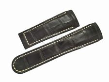 Replacement Brown Alligator Strap for EBEL Classic Hexagon Watch