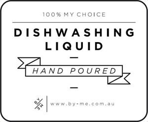 SMALL Dishwashing Liquid Decal - White  (removable/ reusable/ waterproof label)