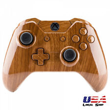 Full Housing Shell Button Kit for Xbox One Controller W/3.5 mm Jack Wooden Grain