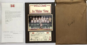 NOS Vtg 1982-83 Milwaukee Bucks Division Champions Wall Plaque Miller Beer