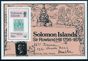 Solomon Islands 1979 QEII Sir Rowland Hill Mini Sheet MNH