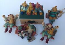 Annekabouke Bear and Me Trinket Box and 4 Figures~Colour Box