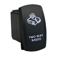 Rocker Switch 6B36W Laser TWO WAY RADIO dual backlit LED white SPST ON-OFF