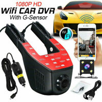 Hidden Camera WiFi 1080P Car DVR Video Recorder Front and Rear Dash Cam G-Sensor