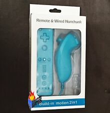 New Remote w/ Built-in Motion Plus & Nunchuk (Nintendo Wii or Wii U) LIGHT BLUE