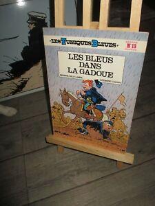 Lambil&Cauvin-Bd-Tuniques bleues+Dédicace&dessin Cauvin-Bleus dans  gadoue-1978