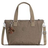 kipling Basic Eyes Wide Open Amiel Medium Handbag Tasche True Beige Braun Neu