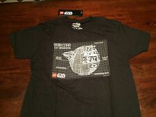 Star Wars-Death Star Black T-shirt.  L Mens.