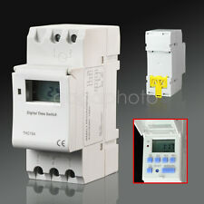 DIN Rail Mounting Weekly Digital Programmable Timer THC15A DC 12V Time Switch