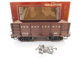 G Scale - Bachmann - Pennsylvania Wood Ore Car Train PRR #417 w/ Metal Wheels